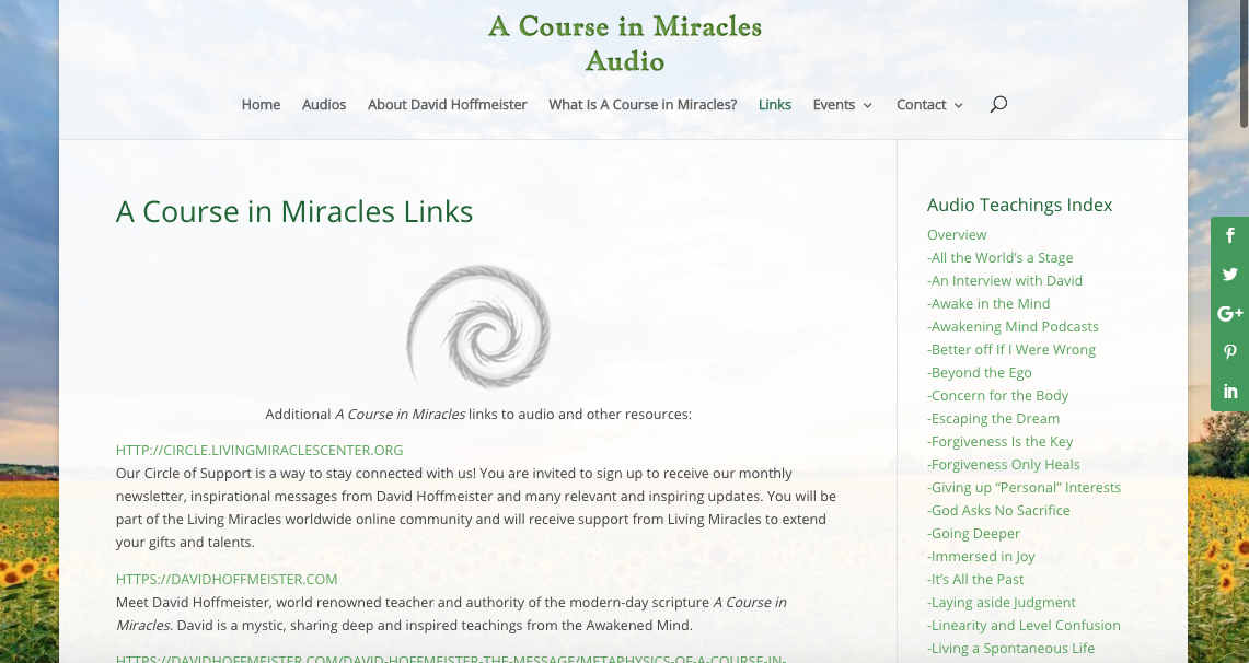A Course in Miracles Non Dual Links